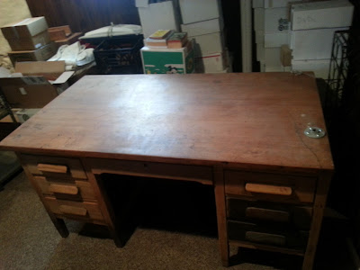 The original desk/bench.