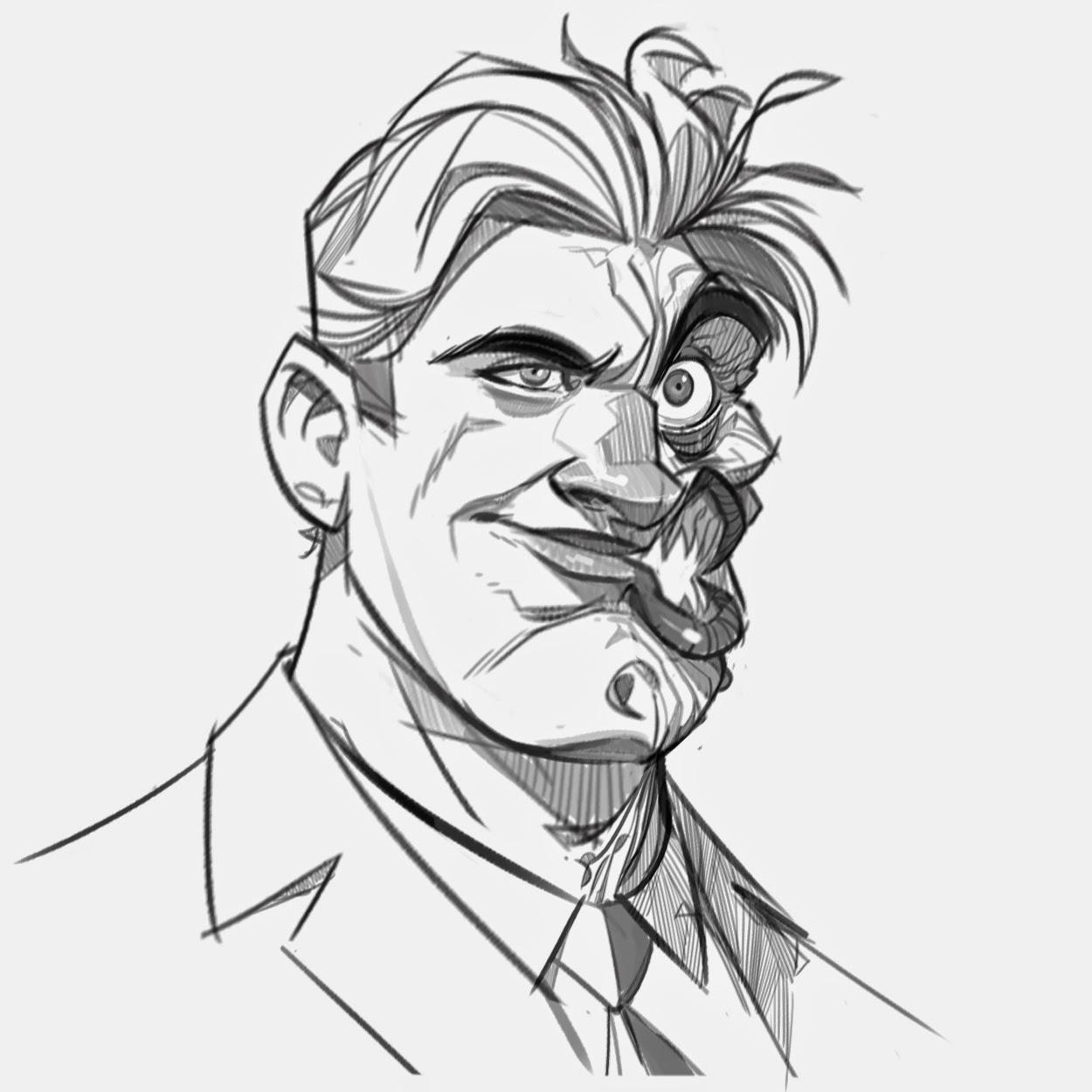 P.Cohen Sketch Blog: Two-Face