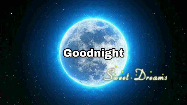 Beautiful romantic moon light Good Night Image