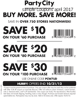 free Party City coupons for april 2017