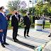 Insfrán presidió el homenaje al general San Martín,   que contó con la presencia de estudiantes