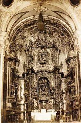tabernáculo o altar mayor de la iglesia, Beceite, San Bartolomé