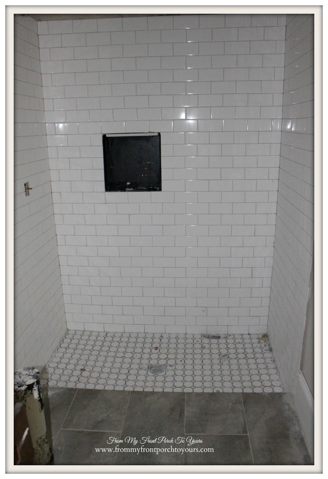From My Front Porch To Yours: Suburban Farmhouse Bathroom ... on Farmhouse Bathroom Tile  id=74641