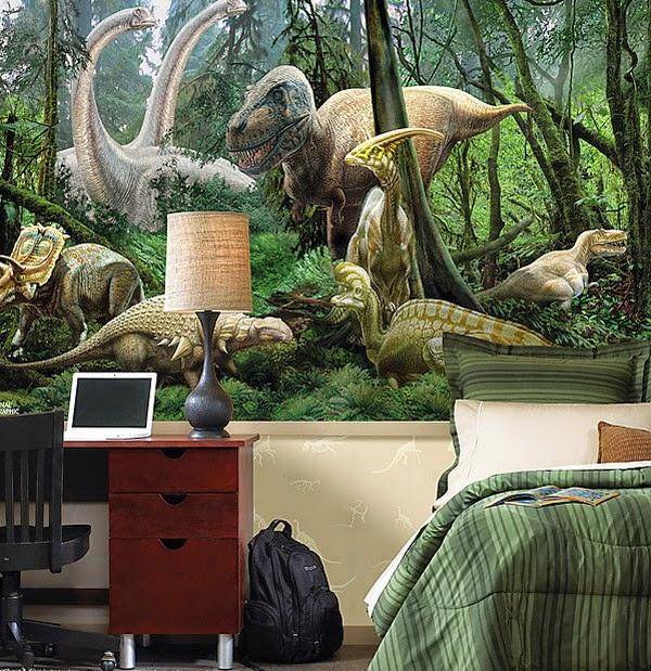Dormitorio De Ni 241 Os Decorado Con Dinosaurios Arte En Las