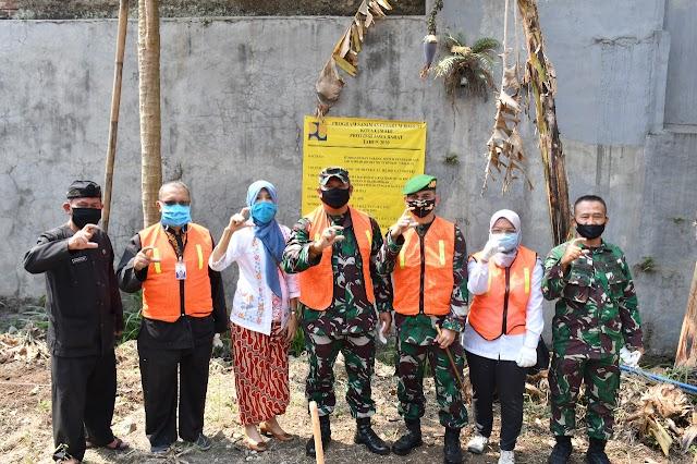 Danpusdikhub Kodiklatad Bekerjasama Dengan Dinas DPKP Cimahi Laksanakan Penggalian Pertama Pembangunan SPALDT di Asrama Pusdik