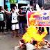 लक्ष्मीपुर : ABVP के कार्यकर्ताओं ने फूंका MLA बंटी चौधरी का पुतला, जमकर की नारेबाजी