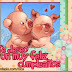 Postales con cerdos feliz cumpleaños