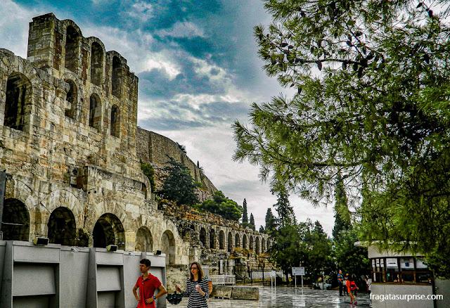 Odeon de Herodes Ático, na Acrópole de Atenas