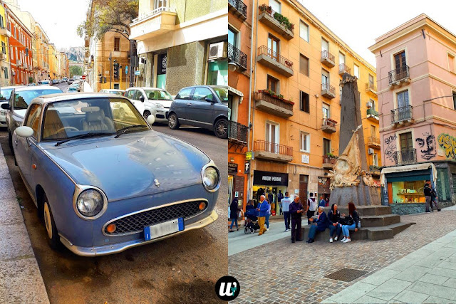 Antique car and street, Cagliari | Sardinia, Italy | wayamaya