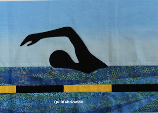 SWIMMING-SWIMMER SILHOUETTES-SWIM STROKES-SWIMMING QUILT-ROWALONG-ROW QUILT
