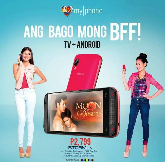 MyPhone Storm TV, 4-inch Dual Core with Analog TV for Php2,799