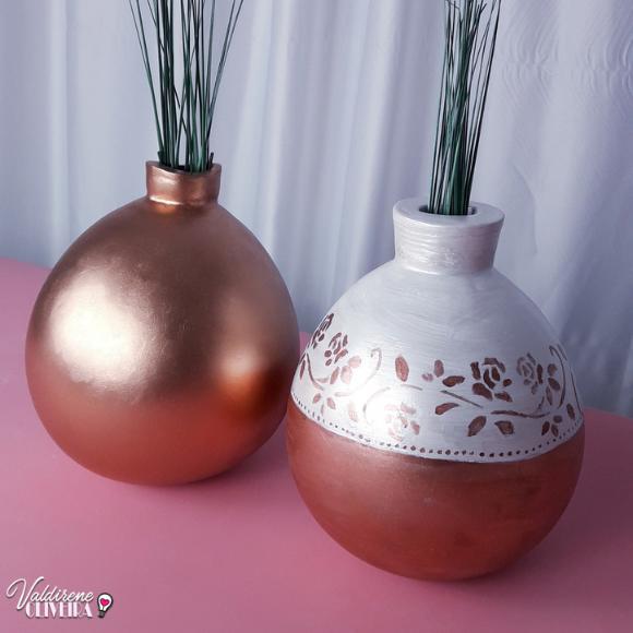 vaso feito com bexiga