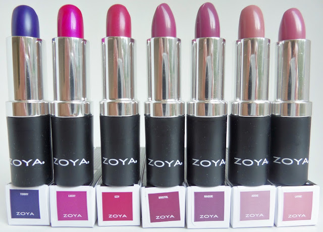 zoya seasonal lip color Fall 2017