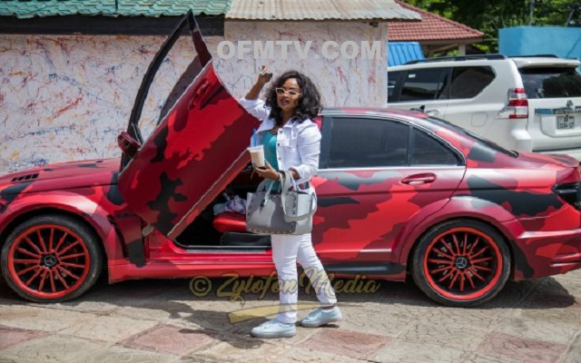 Nana Ama McBrown drives expensive Benz [Photos]