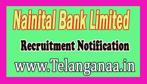 Nainital Bank Limited Recruitment Notification 2016