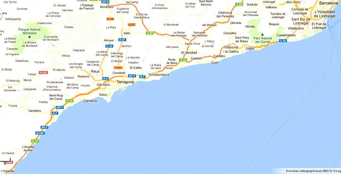 Mapa Terres De L Ebre.Costa Daurada Et Terres De L Ebre Ce Qu Il Faut Faire