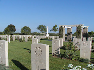The Moro River Canadian War Cemetery contains the graves of 1,615 soldiers, mainly killed in the Battle of Ortona
