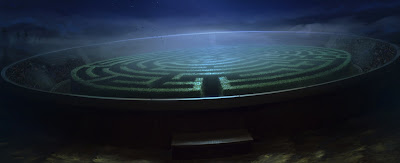 Il labirinto (Momento 1) - La siepe-labirinto dall'alto