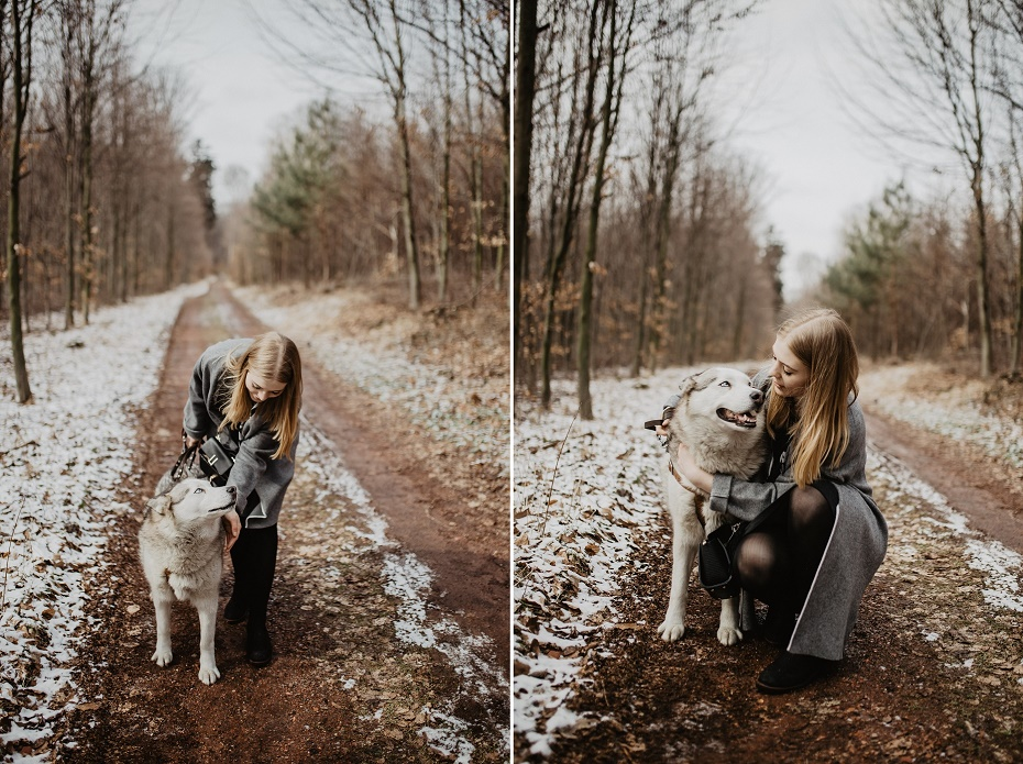Sesja zdjęciowa Husky