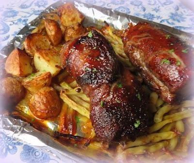 Sheet Pan Hoisin Pork Tenderloin for Two
