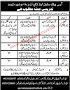 Application for Teaching Jobs 2019 in Army Public School and College