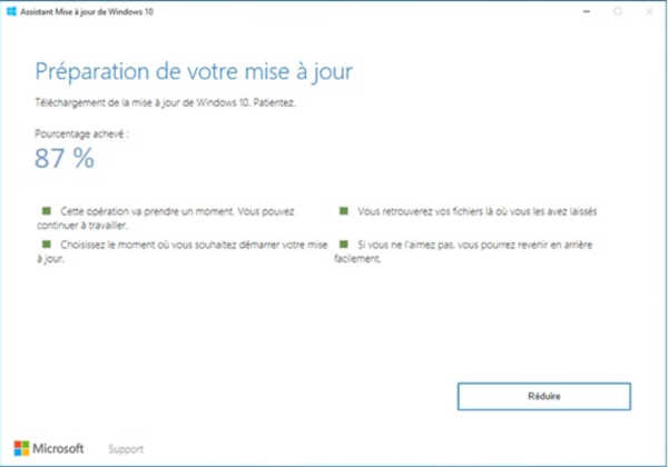 assistant mise à jour Windows 10 1909
