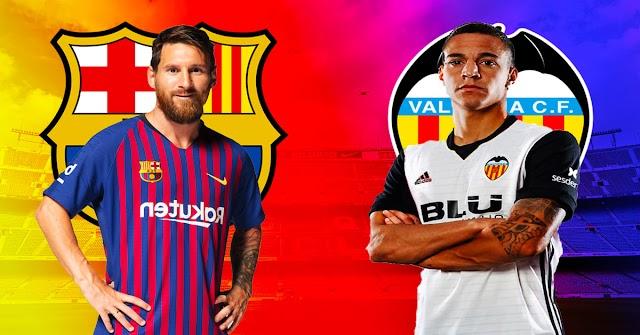 مباراة برشلونة وفالنسيا الدوري الاسباني 2019/2020