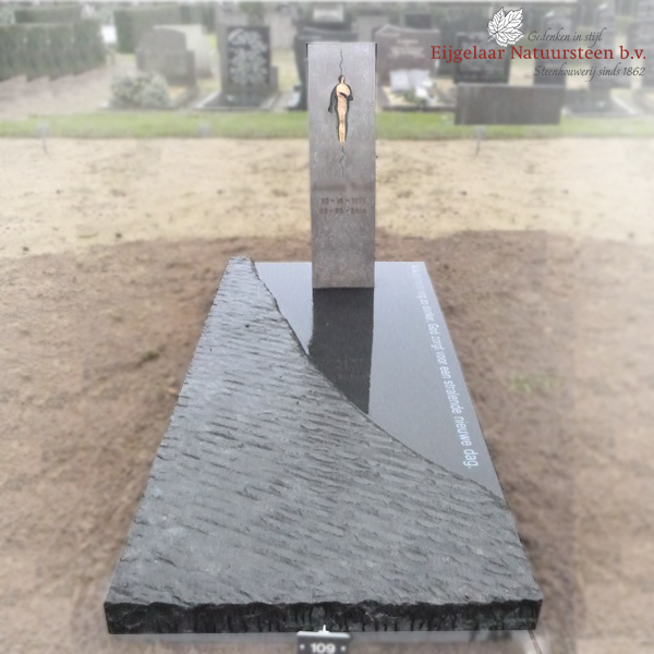 grafsteen brons, grafsteen zuil