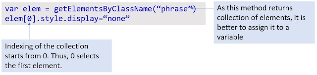 Example of getElementsByClassName()