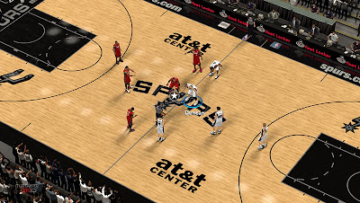 NBA 2K13 San Antonio Spurs Court Mods