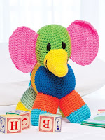 Crochet a Patchwork Elephant Pattern using Scrap Yarn