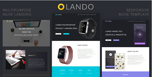 Lando_Multipurpose Muse Landing Page Download Now 2018