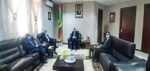 مباحثات بين وزيري الخارجية الصحراوي والموريتاني حول التطورات الأخيرة في المنطقة والقضايا ذات الإهتمام المشترك بين البلدين.