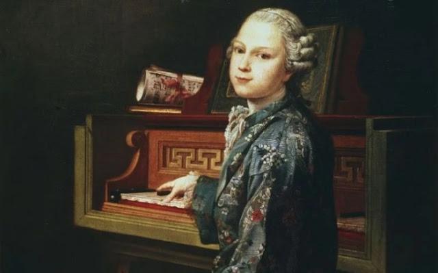 retrato anteriormente desconhecido de Mozart