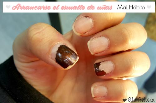 Arrancarse el esmalte de uñas