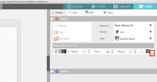 custom cut settings, custom material settings, silhouette studio, silhouette design studio, silhouette studio tutorials