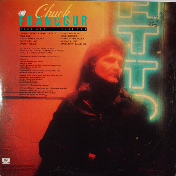 My Vinyl Attic Chuck Francour Under The Boulevard Lights 1980