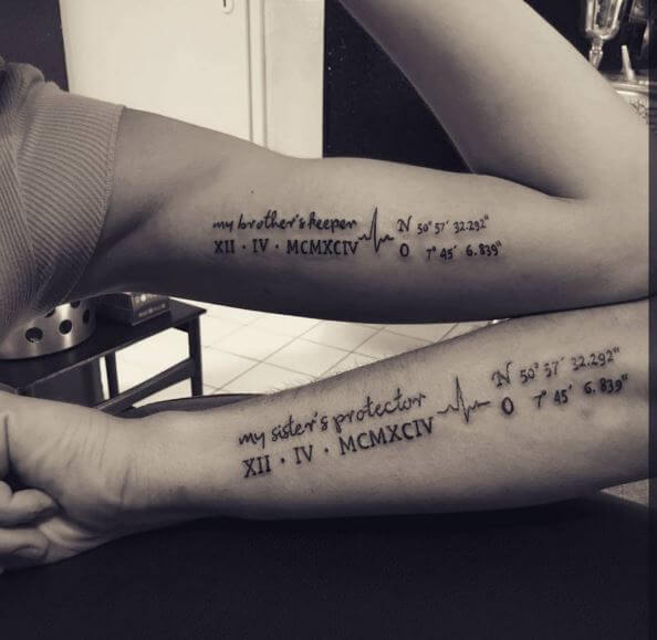 6c16bf64000e3 80+ Meaningful Sibling Tattoos For Brothers & Sisters (2019 ...