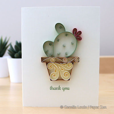 Quilling Succulents Pattern Tutorial - Angel Wing