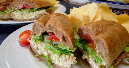 Makings of a Chicken Salad Poboy         ~          Drick's Rambling Cafe