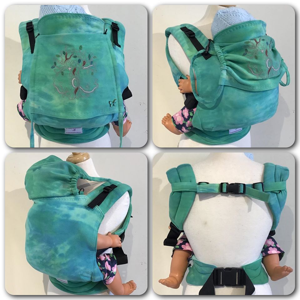 "16"" Hand-dyed and embroidered full buckle carrier"