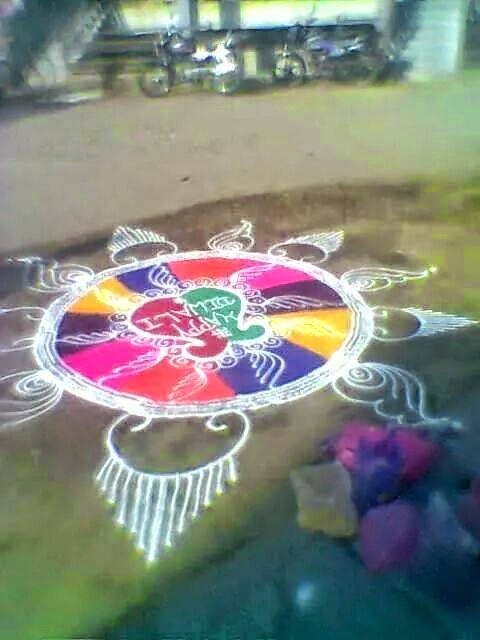 Kolam for Diwali 14