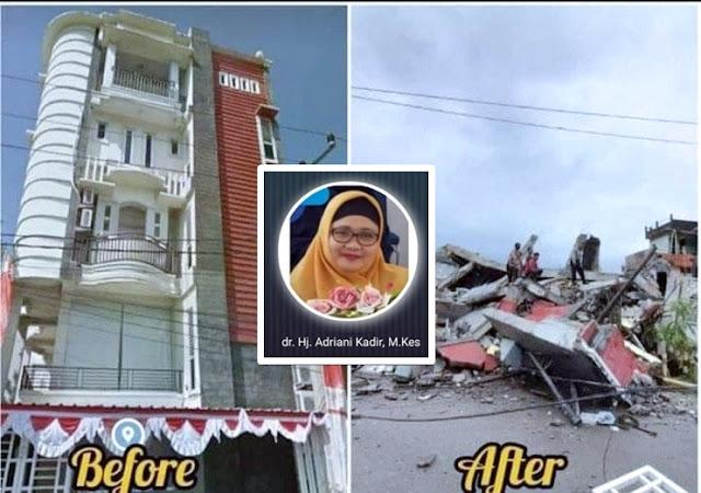 Innalillahi, Dokter yang Selalu Menggratiskan Santri-Ustadz di Mamuju itu Telah Tiada bersama Kliniknya Akibat Gempa