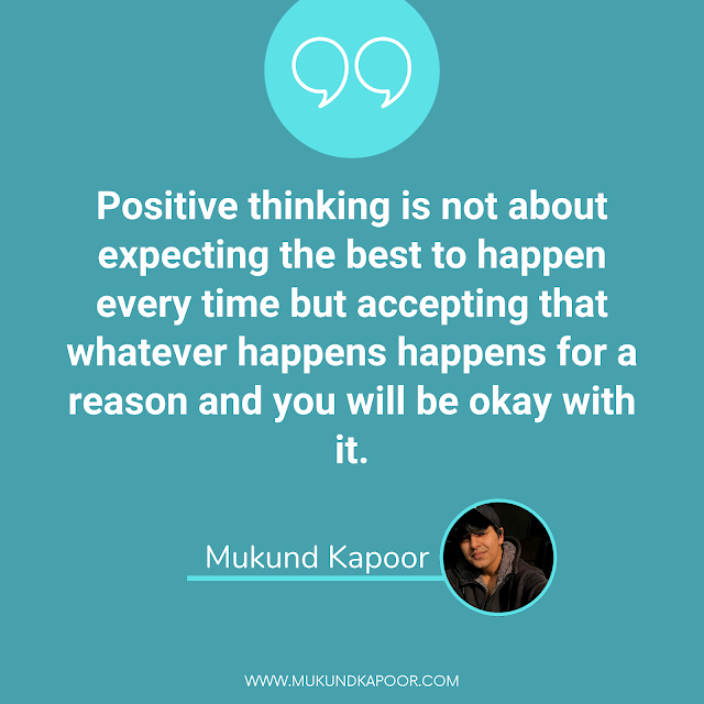 be positive to be happy
