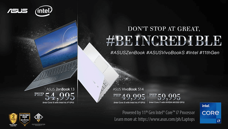 ASUS launches 11th Gen Intel powered ZenBook and VivoBook S laptops in PH