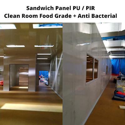 sandwich panel clean room rumah sakit covid
