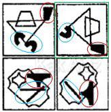 Penyelesaian Figural No. 33 TKPA SBMPTN 2016 Kode Naskah 321, pola gambar, rotasi 90 derajat, perpindahan, dan pengurangan objek