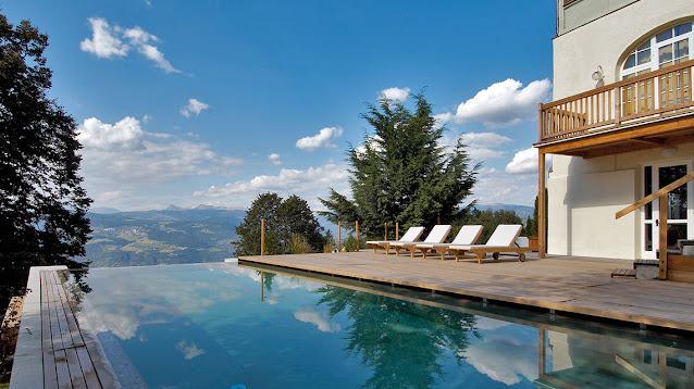 hotel con vista mozzafiato montagna