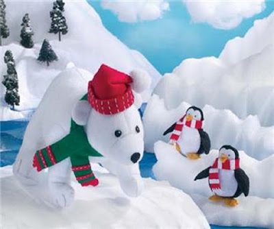 Polar Bear & Penguins Felt Centerpiece Kit