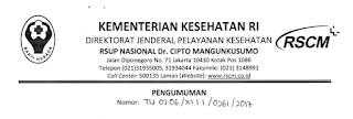Lowongan Kerja Non PNS RSUPN dr Cipto Mangunkusumo Tahun 2017
